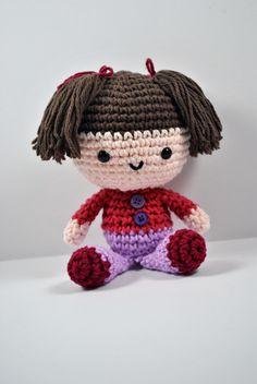 """Mini Doll Amigurumi - Free Crochet English Pattern - PDF Format scroll down and click """"Mini Doll"""""""