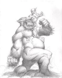The Flash vs. Gorilla Grodd - Danny Cruz Comic Art