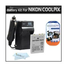 Battery And Charger Kit For Nikon P100 P500 P510 P520 Digital Camera Includes Extended (1100 Mah) Replacement Nikon EN-EL5 Battery + AC/DC Rapid Charger + LCD Screen Protectors + ButterflyPhoto MicroFiber Cleaning Cloth - http://allgoodies.net/battery-and-charger-kit-for-nikon-p100-p500-p510-p520-digital-camera-includes-extended-1100-mah-replacement-nikon-en-el5-battery-acdc-rapid-charger-lcd-screen-protectors-butterflyphoto-microf/