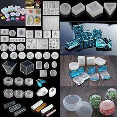 Faça você mesmo molde de silicone transparente fazendo Joias Pingente Resina de fundição molde Craft Tool