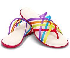 Women's Huarache Flip | Women's Sandals | Crocs Official Site.  Loving these multi-coloured flip flops!