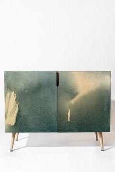 Elena Blanco Grey Credenza | DENY Designs Home Accessories
