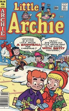 GCD :: Cover :: Little Archie #115 Christmas Comics, I Series, Go To Movies, Archie Comics, Vintage Paper Dolls, Art Pages, Book Lovers, Vintage Christmas, Ariel