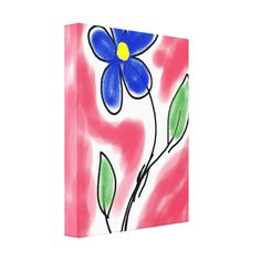 Customizable Stretched Canvas Print made by Zazzle Art. Royal Blue Flowers, Flower Canvas, Vacation Pictures, Stretched Canvas Prints, Vintage Photography, Wrapped Canvas, Create Your Own, Weaving, Fine Art