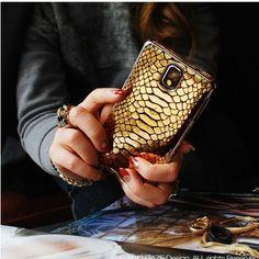 Galaxy Note 3 Gaze Hologram Croco, Gold Phython, Leapord Spots Case