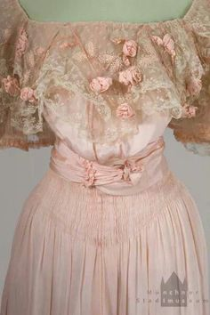 Early 1900s evening dress.
