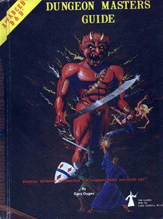 Original Advanced Dungeons & Dragons Dungeon Masters Guide. Published in 1979. And my mother was sure I was becoming a Devil worshiper when she saw it in my room.