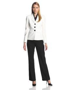 Le Suit Women's 3 Button Crepe Jacket with Pant and Scarf Suit Set, Vanilla Ice/Black, 8 Le Suit http://www.amazon.com/dp/B00I6A6RA8/ref=cm_sw_r_pi_dp_JCB8vb0YDMXRZ