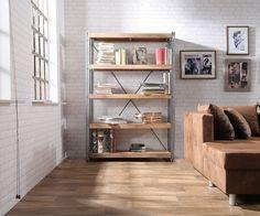 Bücherregal Manon Mango 120x180 cm 5 Fächer Antik Optik