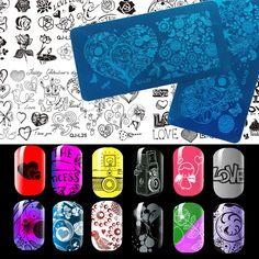 1 Unids 6*12 cm Palma Dedo Serie Manicura del Arte del Clavo Que Estampa las Placas de Imagen DIY QJ Plantillas Plantillas salón de Belleza de Uñas Herramientas