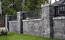 AB Courtyard® Collection- The AB Courtyard® Collection is a 2-sided free standing, stack-n-go wall system that can blend the two block sizes to create seating walls, outdoor kitchens, fountains, posts and courtyards. Think of it as the ultimate project block.