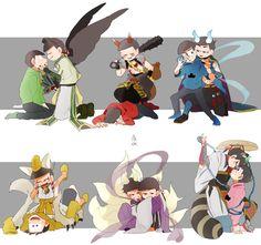 Osumatsu san imagines y comics Dark Anime Guys, All Anime, Manga Anime, Character Concept, Character Design, Adventure Time, Tales Of Berseria, Osomatsu San Doujinshi, Gekkan Shoujo Nozaki Kun
