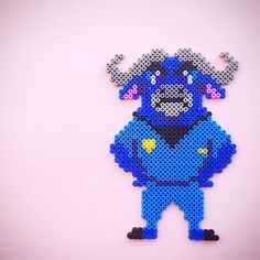 Chief Bogo - Zootopia perler beads