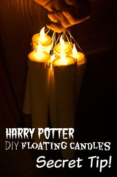 The SECRET Tip to DIY Floating Candles from the Harry Potter Holiday House Tour: HOLY cow she has everything laid out so simply with TONS of links to all of the tutorials and products she bought for their Harry Potter Christmas decor!  Extremely thorough & kid friendly.