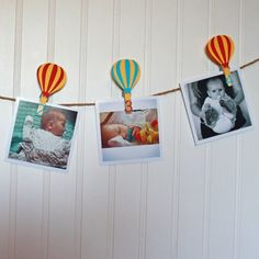 Hot Air Balloon First Birthday Party. Hot air balloon monthly photo banner. Littlebitshomemade