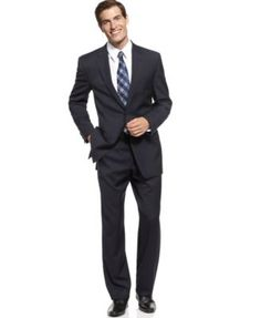 Michael Michael Kors Suit Navy Solid