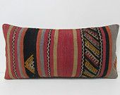 kilim pillow design interior lumbar pillow hippie textile turkish cushion cover patio pillow cover extra large pillow cover red pillow 26002