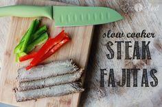 Slow Cooker Steak Fajitas - Harmons Blogger   One Sweet Appetite