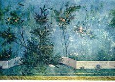 Villa di Livia a Prima Porta - Abete rosso (Picea abies) e melograni - Museo Naz. Romano
