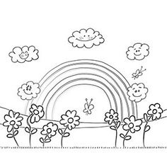 Good Rainbow Coloring Page - Buzzle.com Printable Templates