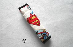 Superman Comic Seat Belt Strap Cover  by ComfyAccessories on Etsy