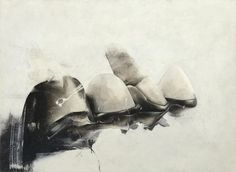 "Jay DeFeo   ""Crescent Bridge I"", painting based on her bridge (teeth)"