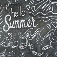 Hello Summer! Summer Chalkboard