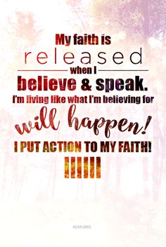 Release your faith and allow God to move in your life! #KCM #inspiration…