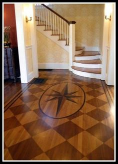 Geometric Floor w/ Mariner's Compass | Content in a Cottage