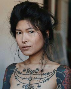 Ideas Tattoo Girl Face Portraits Beautiful For 2019 Tatoo Art, Body Art Tattoos, Girl Tattoos, Color Tattoo, Face Tattoos, Girl Face, Woman Face, Photography Women, Portrait Photography