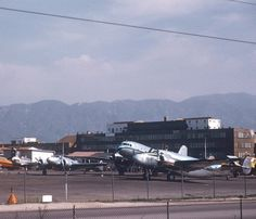 Lockheed Aircraft. This photo likely was taken in 1947, since photographing defense facilities during WW II was a no no.