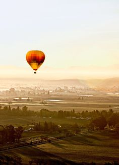 Napa Valley Balloons' trips take off before sunrise, when the wind is calm.