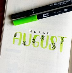 Bullet Journal Monthly Cover Layout :Ready for the second half of the year! Bullet Journal Cover Page, Bullet Journal Notebook, Bullet Journal Themes, Bullet Journal Spread, Bullet Journal Inspo, Bullet Journal Layout, Journal Pages, Journal Fonts, Bullet Journal Ideas Handwriting