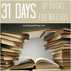 Master list of 31 Days of Books for Writers