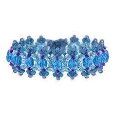 Azure Jitterbug Bracelet Kit by Glass Garden Beads | Fusion Beads