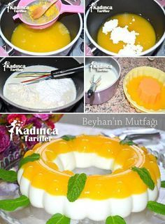 Best Cake : Orange pudding recipe how? Pudding Recipes, Cake Recipes, Sweet Recipes, Far Breton, Pasta Cake, Turkish Sweets, Tandoori Masala, Orange Recipes, Pudding