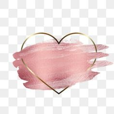 Heart frame rose gold transparent element PNG and PSD Frame Floral, Rose Gold Frame, Flower Frame, Rose Gold Painting, Gold Watercolor, Heart Shaped Frame, Heart Frame, Adobe Photoshop, Decoration Photo