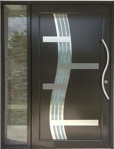 Newest Picture Interior Door Models Style, de modelos de puertas Modern Entrance Door, Modern Wooden Doors, Wooden Main Door Design, Door Gate Design, Room Door Design, Modern Front Door, House Outside Design, House Front Design, Flush Doors