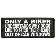 Only Bikers Understand Dogs Patch