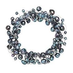 Brățară Valero Pearls perle de cultură indigo