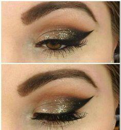 Make dourado+delineado