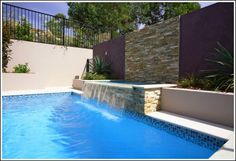 Building water feature into existing pool