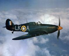 """A Royal Air Force Hawker Hurricane Mark IIC (s/n BE500, 'LK-A', """"United Provinces Cawnpore"""") being flown by Squadron Leader Dennis Smallwood..."""