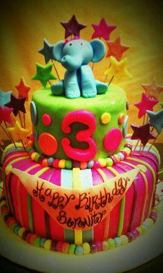 Whimsical kid cake