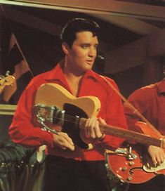 Elvis with Fender Telecaster in MGM's Girl Happy - 1965. Photo courtesy web.