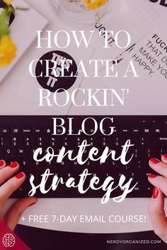 Feeling stuck on creating new blog content? Not sure what your niche is as a blogger? Or, how people even make money blogging?  As a pro content strategist, I'm here to help ya out with my FREE 7-Day Email Course to develop your rockin' blog content strategy. Never be wondering what to write about next, or who you're writing for.  Take the 7 day course to totally overhaul your blog and turn into a content machine in just one week. Woo! Click the image to sign up for free.