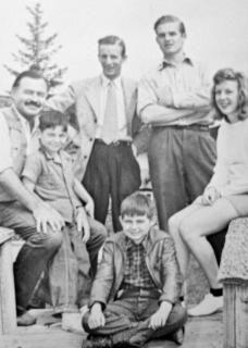 Ernest Hemingway & family & John Shelton & Honoria (nee Murphy) Shelton