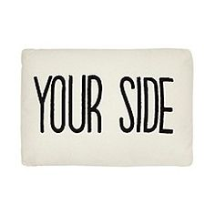 Ben de Lisi Home - Cream 'Your side my side' cushion