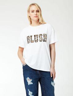 Maxi T-shirt con ricamo animalier