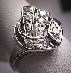 Vintage Wedding Rings 1920 | Antique Diamond Wedding Ring Vintage Art Deco 1920s (item #1148332)